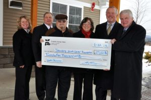Franklin Savings Bank Gives $25,000 to Spaulding Youth Center Foundation to Support New School Construction