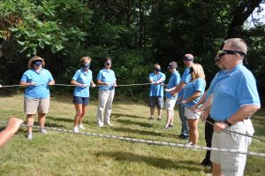 Northway Bank Managers team building skills at Spaulding Youth Center